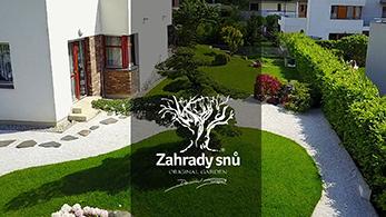 POLOPATĚ - Daniel Purgert zahradysnu.cz , Modelace zahrady,  japonska zahrada s jezerem v satelitu, modelace pomoci zidky