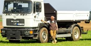 Zahrady snů Daniel Purgert, naše technika, Man kontejner se sklopnými bočnicemi, uveze 12t